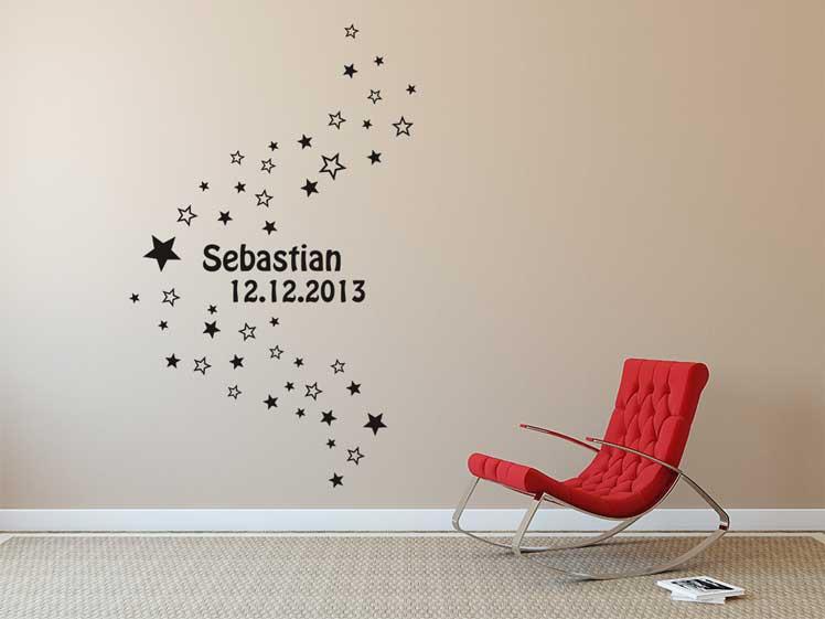 50 Sterne mit Namen