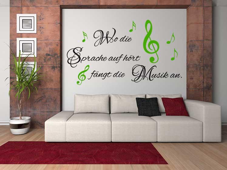 Wo die Sprache aufhört fängt die Musik an