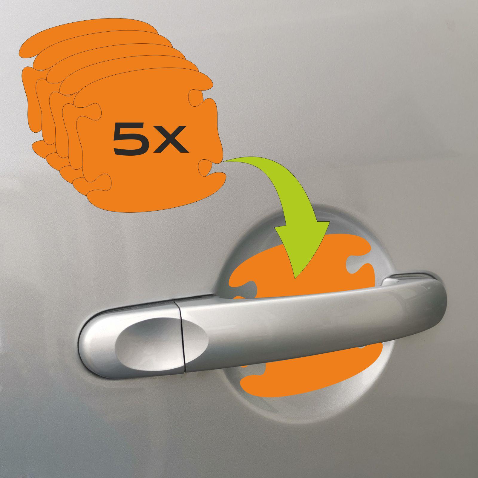 Transparente Schutzfolie für Griffmulden Auto Türgriff 84 x 84 cm